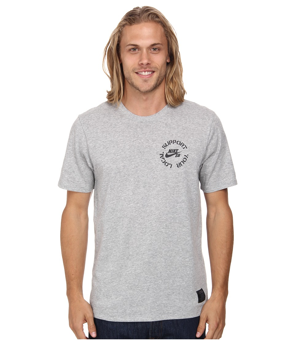 Nike SB - SB Dri-FIT Syl Tee (Dark Grey Heather/Dark Grey Heather/Black) Men's T Shirt