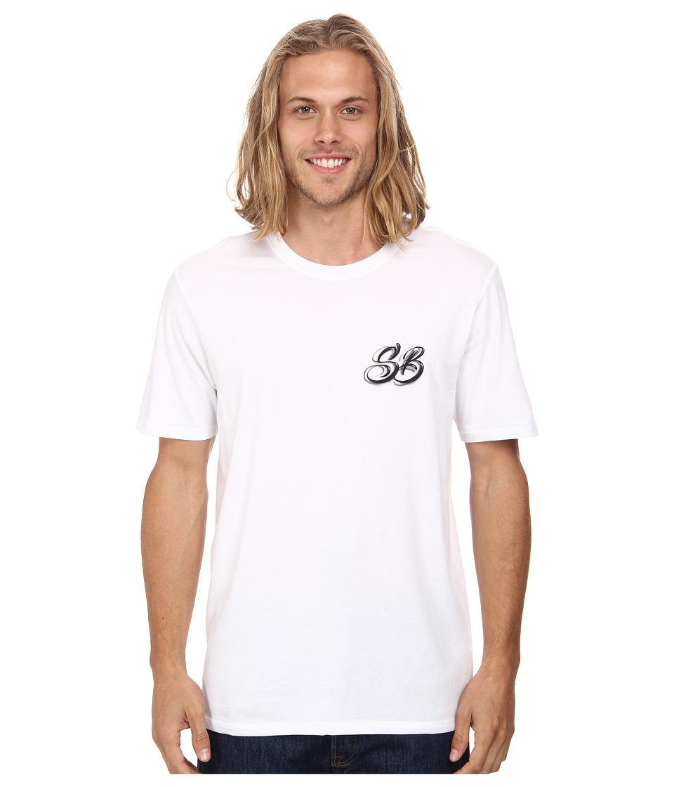 Nike SB - Dri-FIT SB Airbrush Tee (White/White/Bright Crimson) Men's T Shirt
