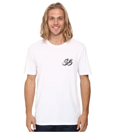 Nike SB - Dri-FIT SB Airbrush Tee (White/White/Bright Crimson) Men