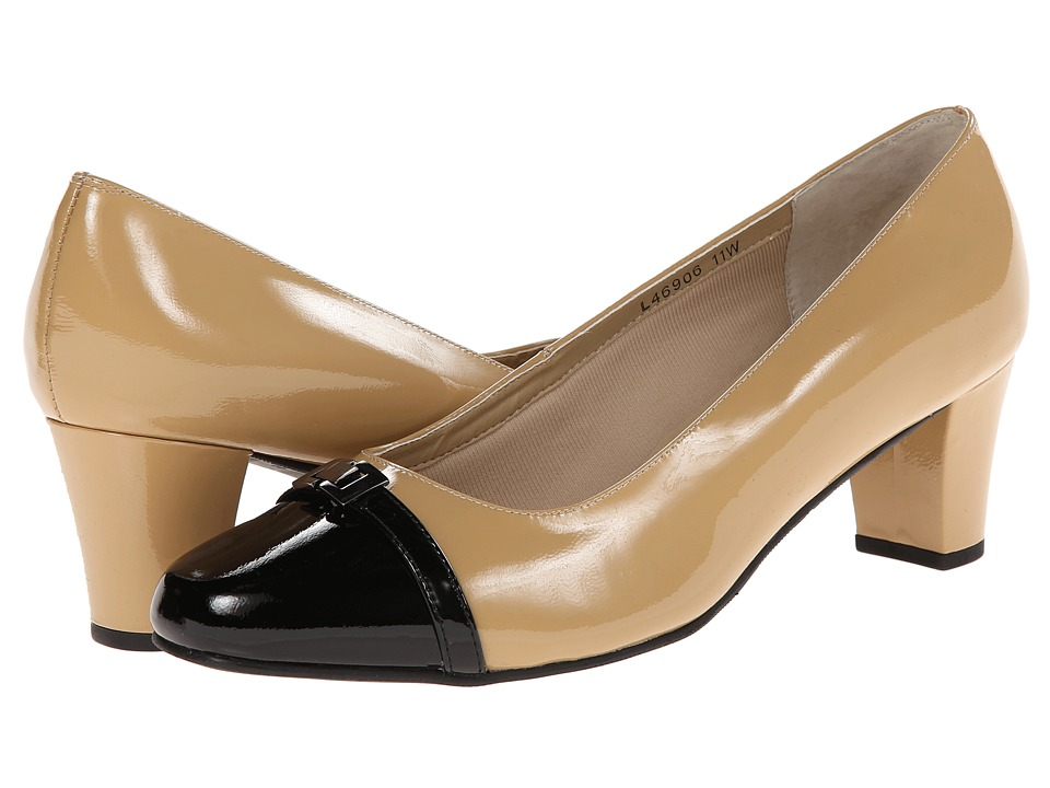 Rose Petals Bria (New Nude Patent/Black Patent) Women