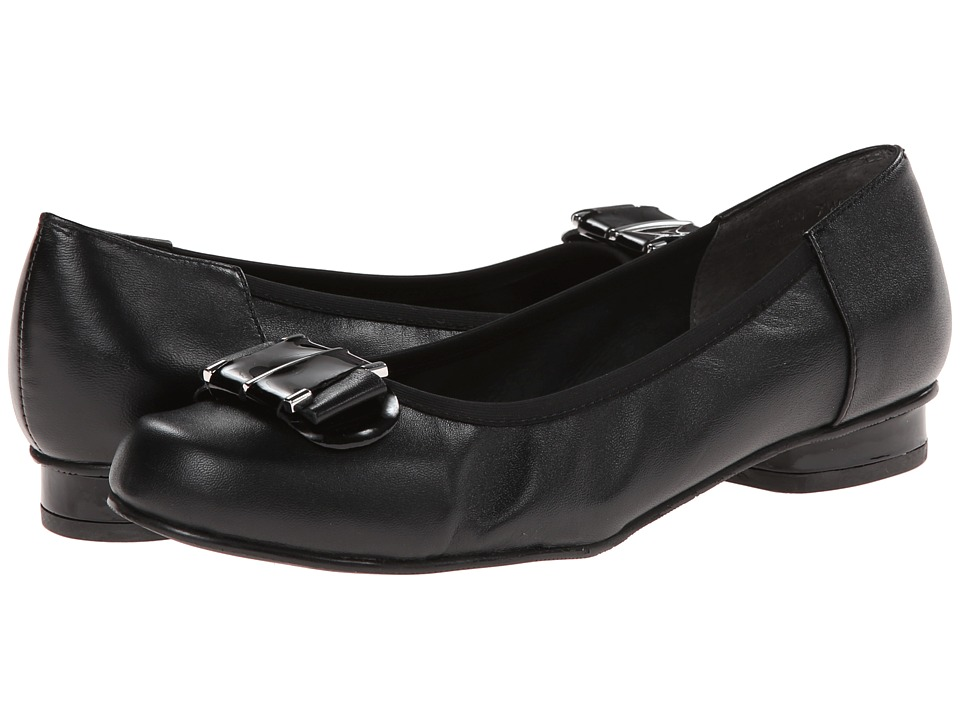 Rose Petals - Mila (Black Nappa/Black Patent) Women's Flat Shoes
