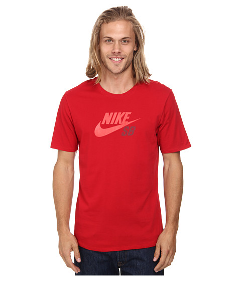 Nike SB - SB Dri-FIT Icon Logo Tee (Gym Red/Gym Red/Team Red) Men's Short Sleeve Pullover