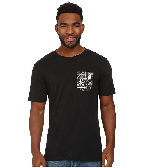 Nike SB - Dri-FIT SB Geo Dye Pocket Tee (Black/White/Black) Men