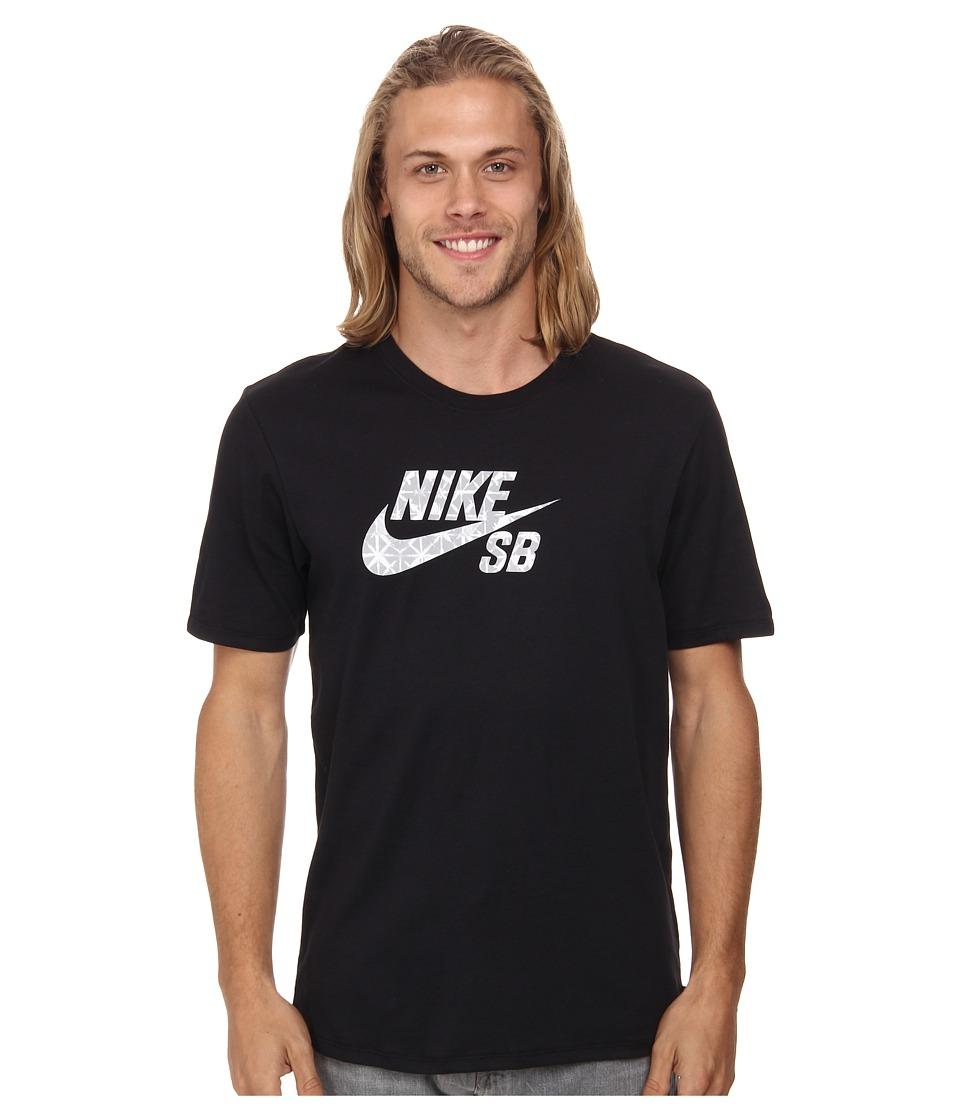 Nike SB - Dri-FIT SB Geo Dye Icon Tee (Black/Wolf Grey) Men's T Shirt