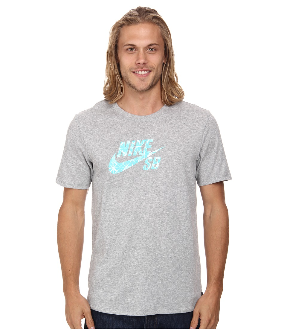 Nike SB - Dri-FIT SB Geo Dye Icon Tee (Dark Grey Heather/Light Retro) Men
