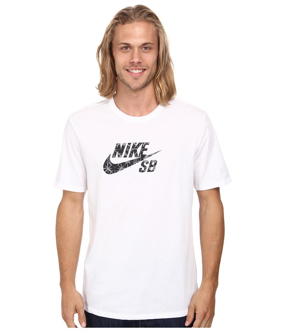 Nike SB - Dri-FIT SB Geo Dye Icon Tee (White/Black) Men's T Shirt
