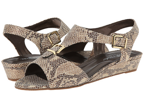 Rose Petals - Jo (Brown On Platinum Boa Snake) Women's Sandals