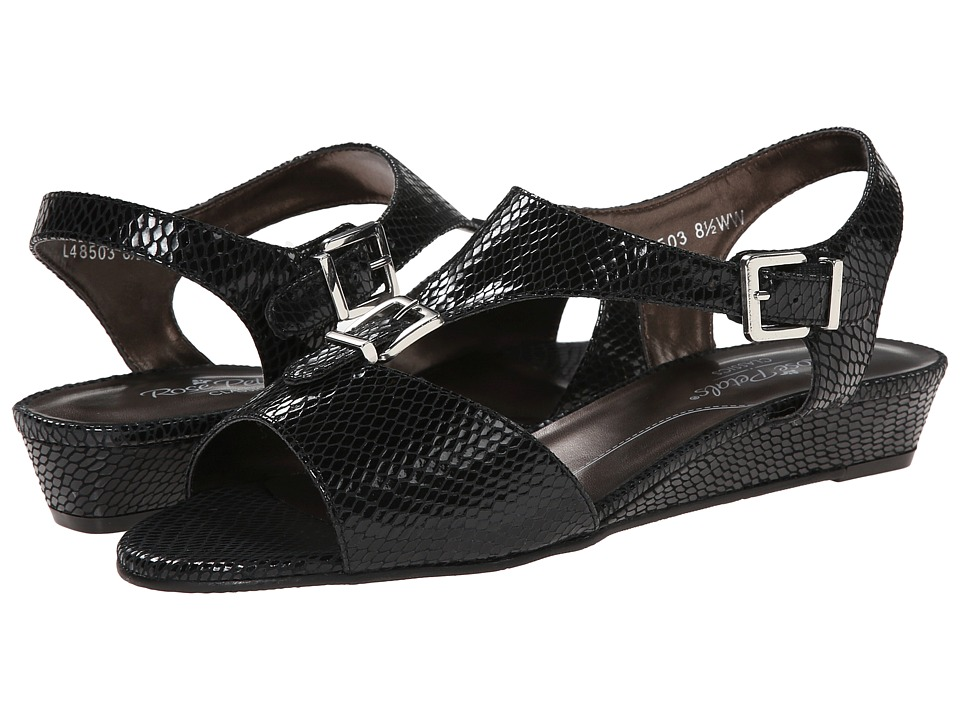 Rose Petals - Jo (Black Snake Print) Women's Sandals