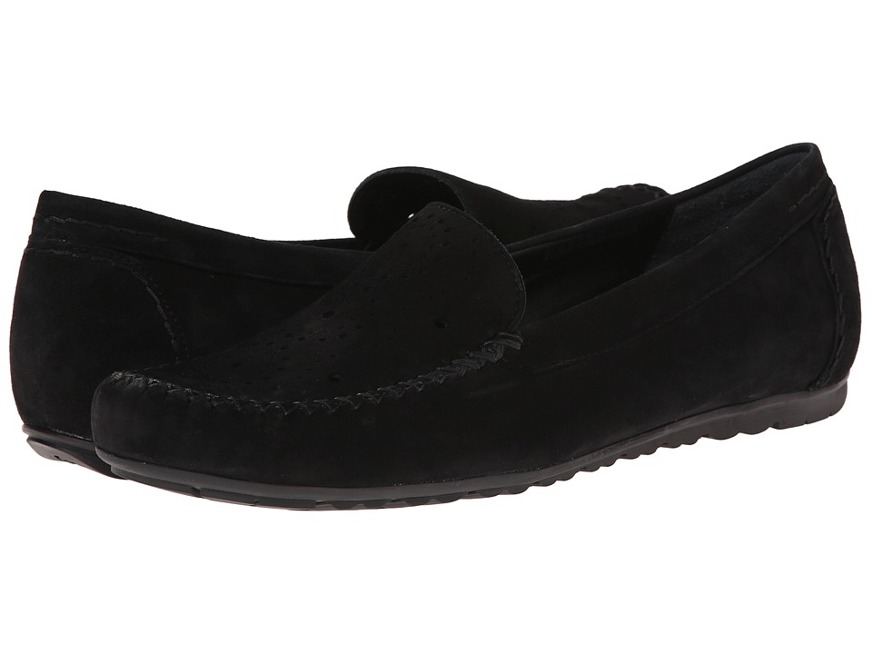 Rose Petals - Elle (Black Suede) Women's Flat Shoes