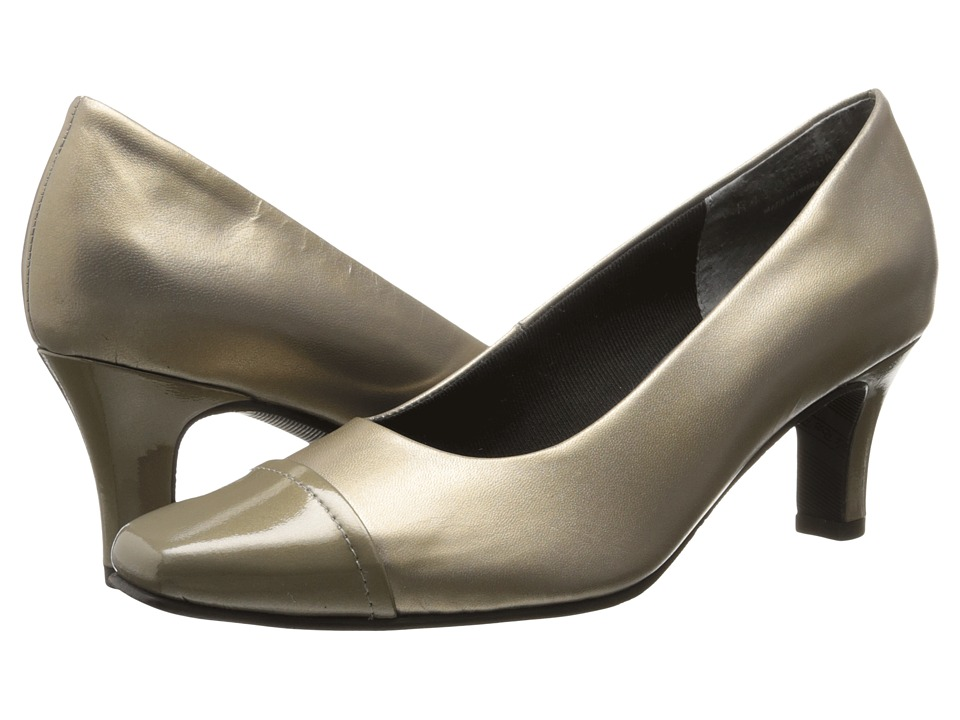 Rose Petals - Race (Pewter Kid/Pewter Patent) High Heels