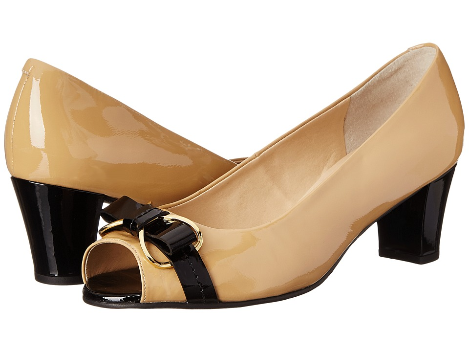 Rose Petals Bronte (New Nude Patent/Black Patent) Women