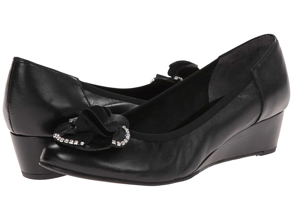 Rose Petals - Abba (Black Nappa) Women's Beads/Ornaments Shoes