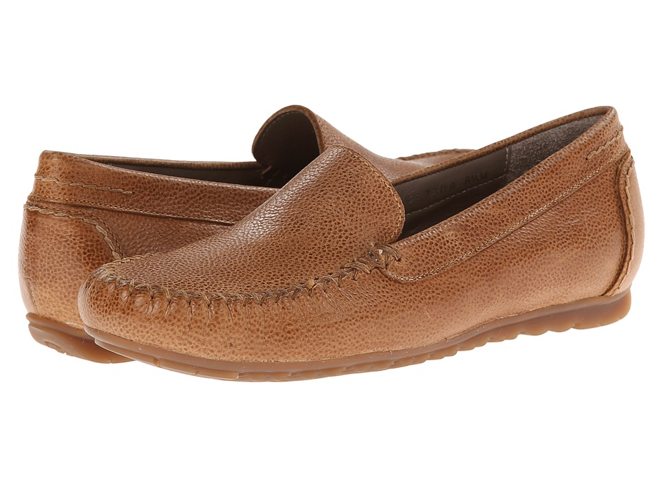 Rose Petals - Elvi (Camel Pebble Leather) Women's Flat Shoes
