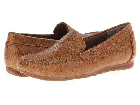 Rose Petals - Elvi (Camel Pebble Leather) Women's Flat Shoes