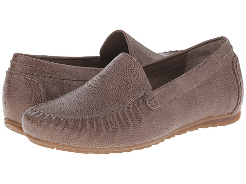 Rose Petals - Elvi (Taupe Pebble Leather) Women's Flat Shoes