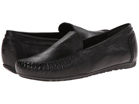 Rose Petals - Elvi (Black Pebble Leather) Women's Flat Shoes