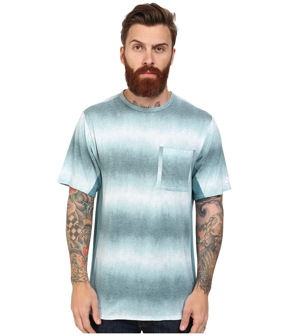 Nike SB - SB Skyline Dri-Fit Dip Fade S/S Pocket (Teal/Mineral Teal/White) Men's T Shirt