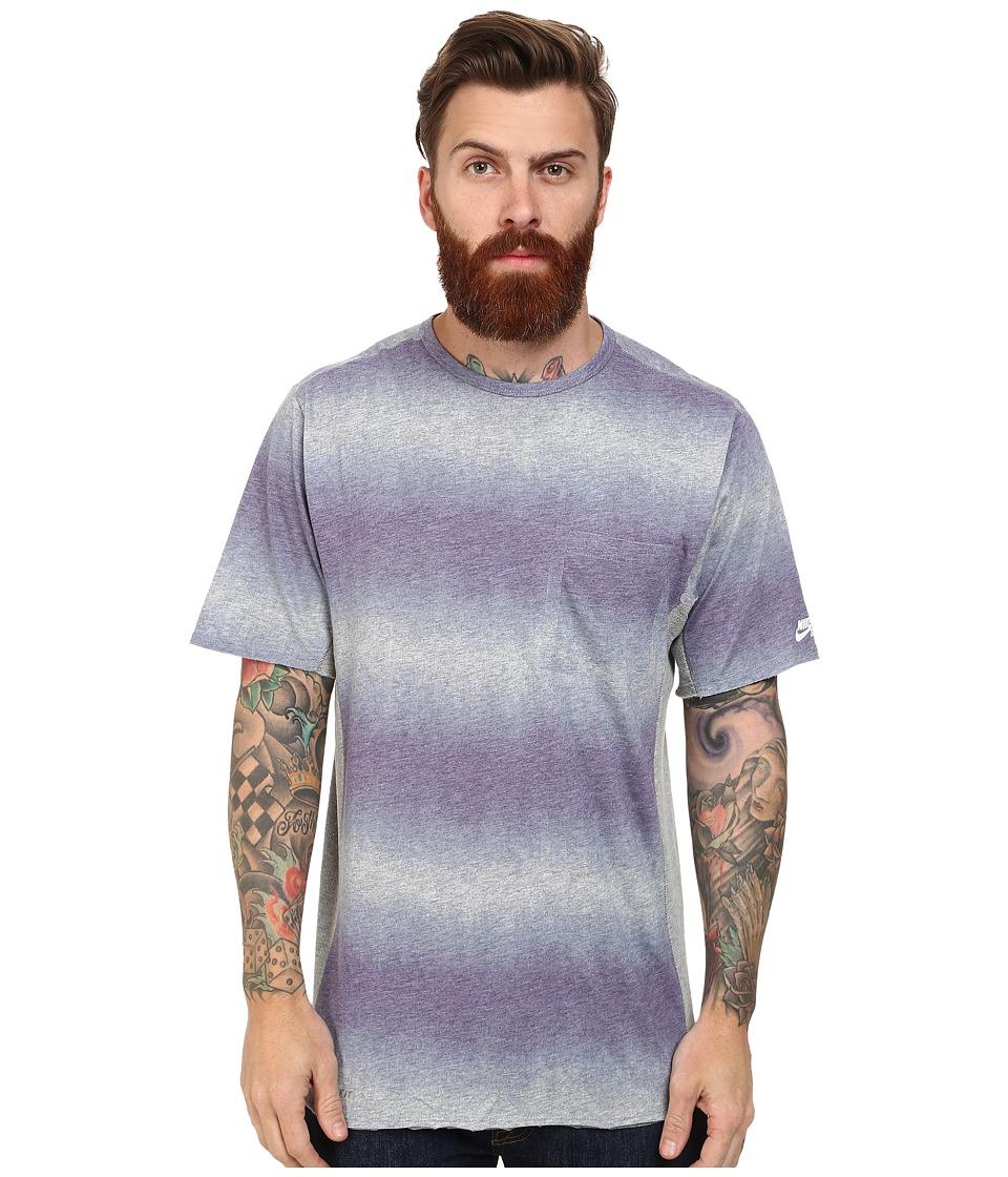 Nike SB - SB Skyline Dri-Fit Dip Fade S/S Pocket (Ink/Dark Grey Heather/White) Men's T Shirt