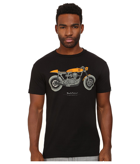 Deus Ex Machina - Moto Grigio Tee (Black) Men's T Shirt