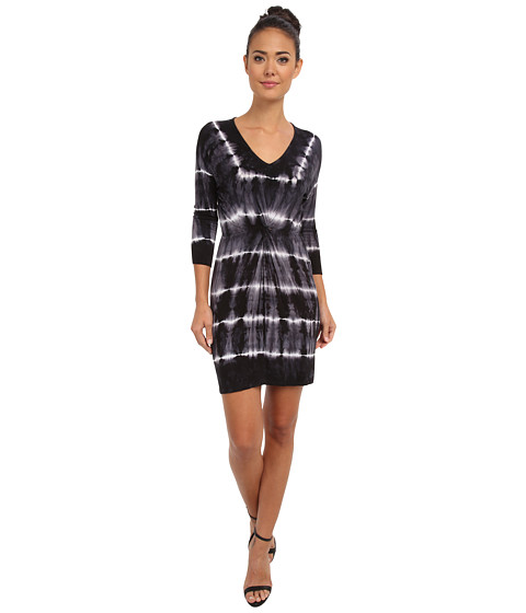 Culture Phit - Elly Tie-Dye Dress (Black Tie-Dye) Women's Dress