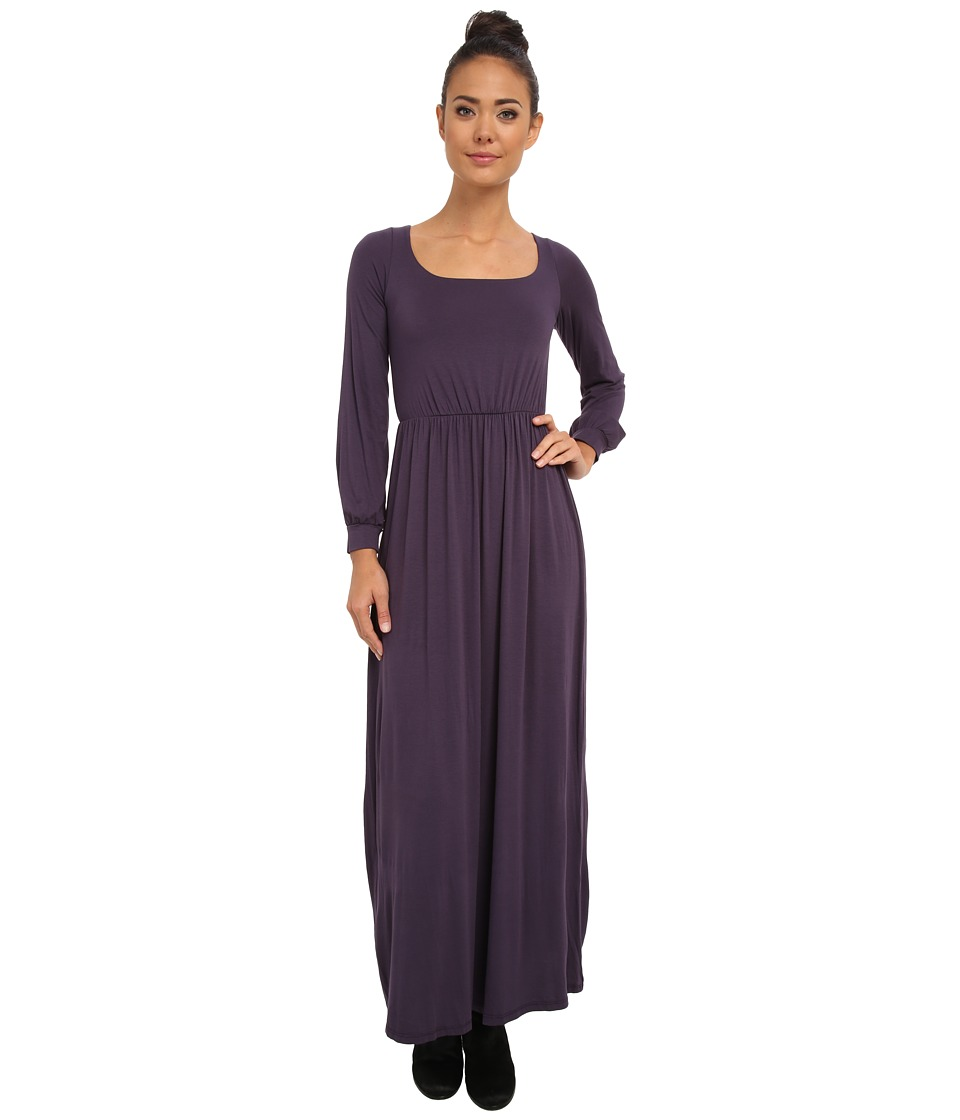 Culture Phit - Angela Open Back Maxi Dress (Plum) Women's Dress