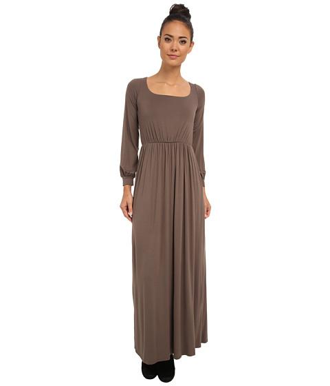 Culture Phit - Angela Open Back Maxi Dress (Brown) Women's Dress