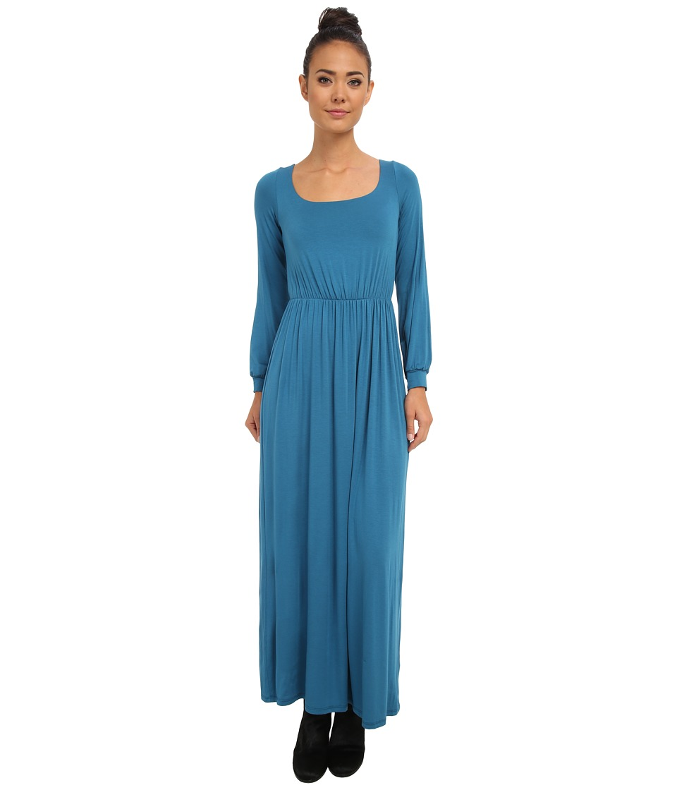 Culture Phit - Angela Open Back Maxi Dress (Teal) Women's Dress