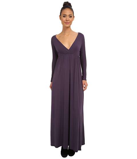 Culture Phit - Dani Cross Over Maxi Dress (Plum) Women's Dress