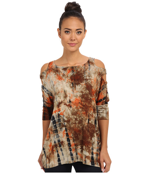 Culture Phit - Blair Cutout Arm Top (Orange) Women's Clothing