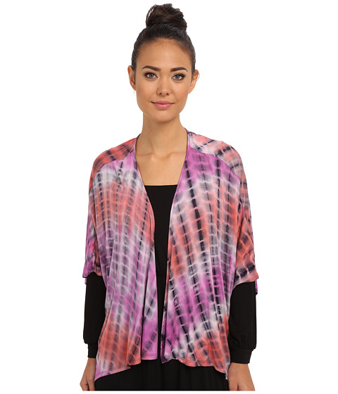 Culture Phit - Rosalie Kimono (Magenta Tie-Dye) Women's Blouse