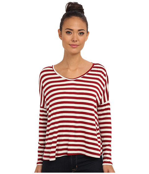 Culture Phit - Ember Stripe Top (Red/White) Women's Clothing