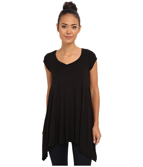 Culture Phit - Sandy Cap Sleeve Tunic (Black) Women's Blouse