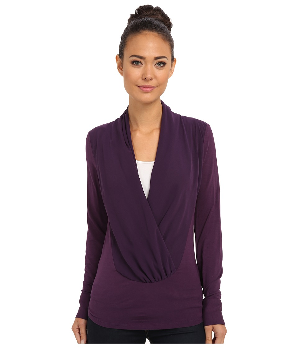 Brigitte Bailey - Jaime Cowl Neck Blouse (Eggplant) Women