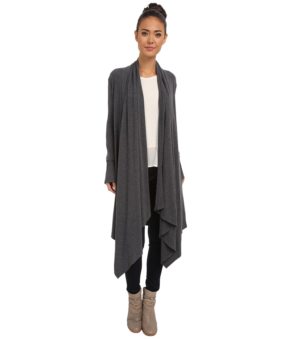 Culture Phit - Carmen Wrap Shawl (Charcoal) Women's Sweater