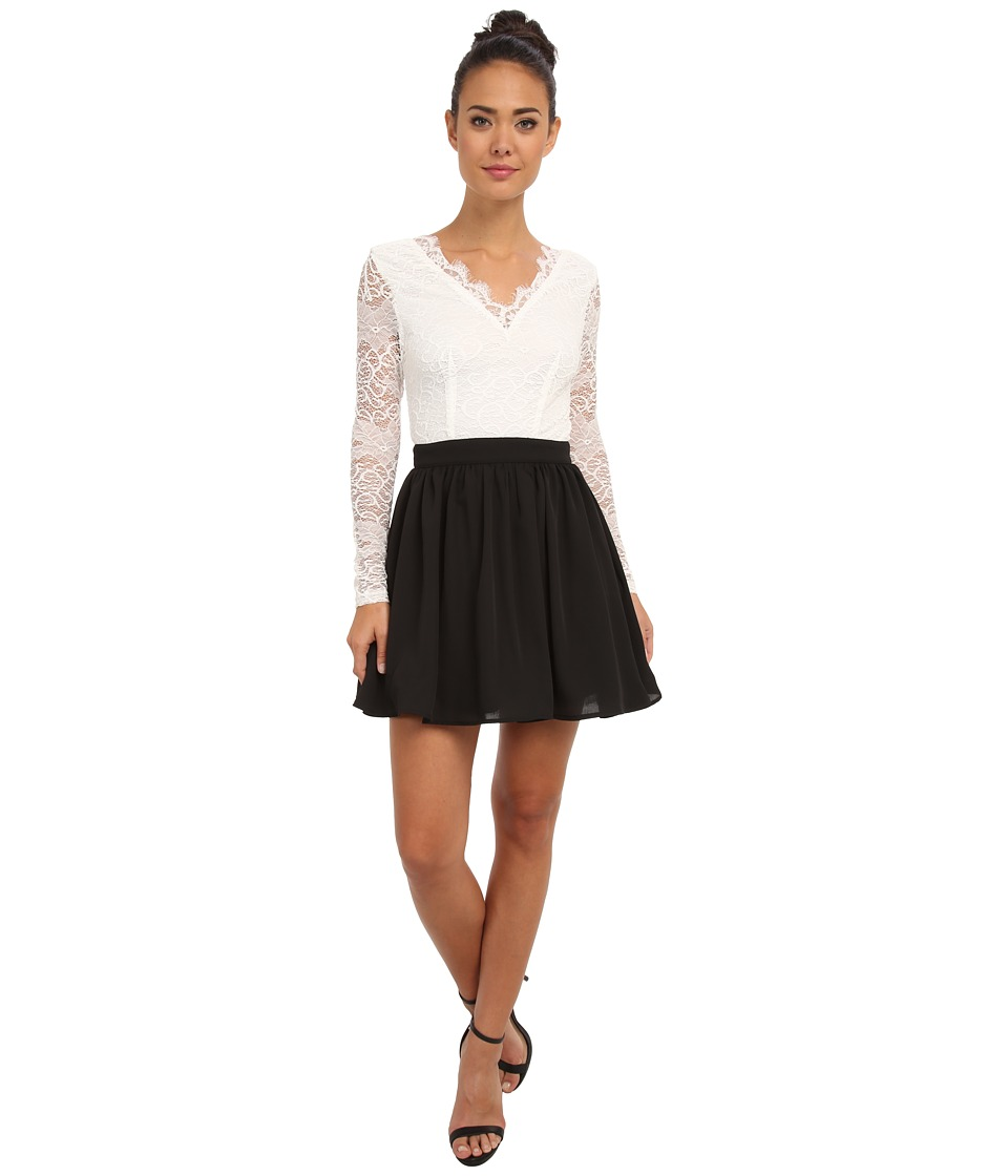 Gabriella Rocha - Calista Lace Top Dress (White) Women's Dress