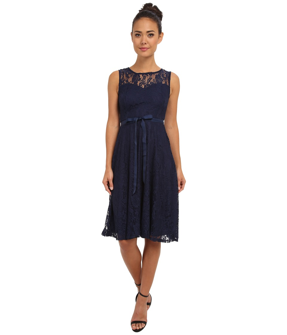 Gabriella Rocha Faith Lace Sleeveless Dress (Navy) Women