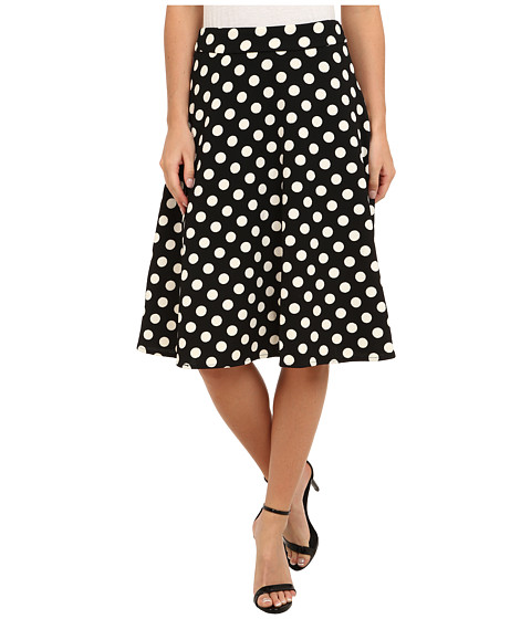 Gabriella Rocha - Alyssa Polka Dot Skirt (Black) Women's Skirt