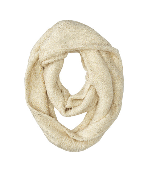 LAUREN by Ralph Lauren - Glittering Boucle Infinity Loop Scarf (Cream/Light Gold) Scarves