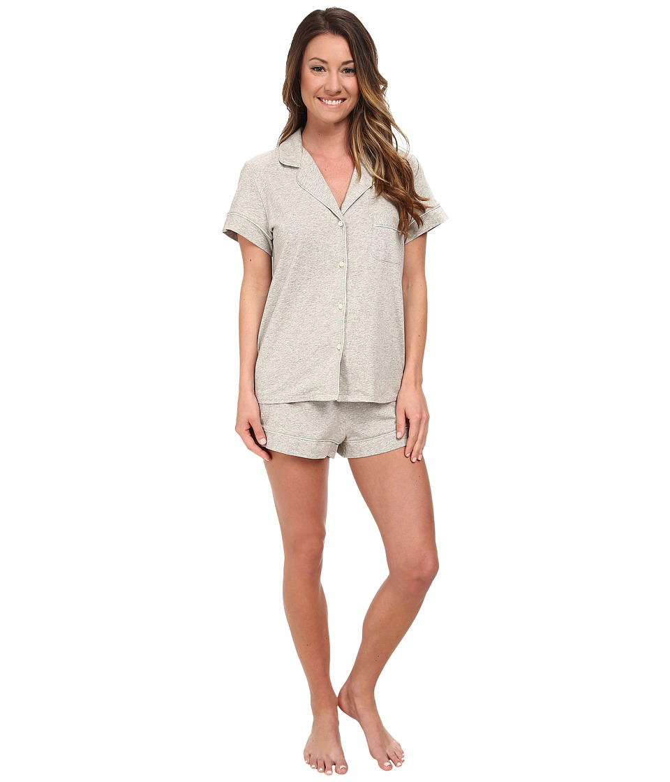 Calvin Klein Underwear - Dynamic Jersey S/S + Jersey Short (Light Grey Heather) Women's Pajama Sets