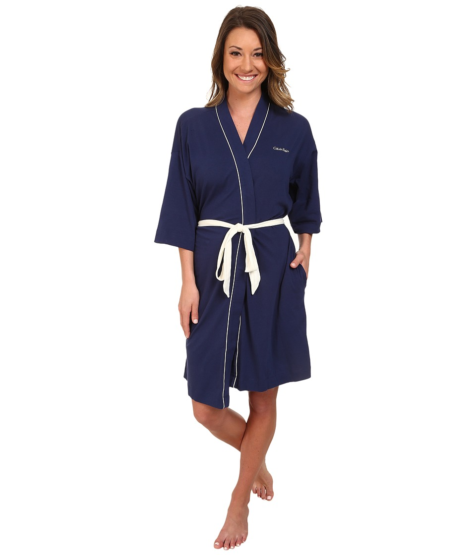 Calvin Klein Underwear - Dynamic Light Weight Jersey Robe (Coastal) Women's Robe