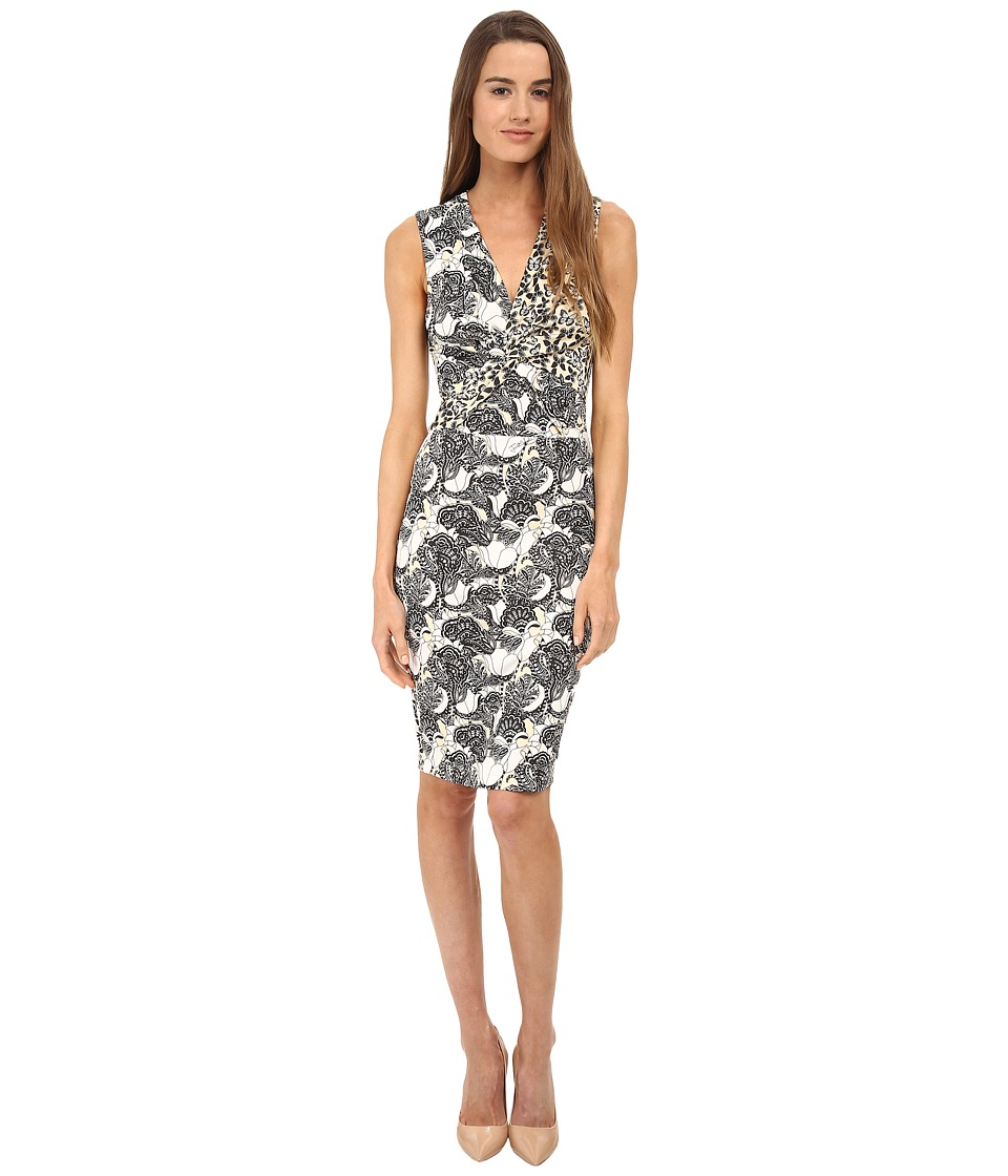 Just Cavalli - Sleeveless Printed Dress (Vanilla Variant) Women's Dress