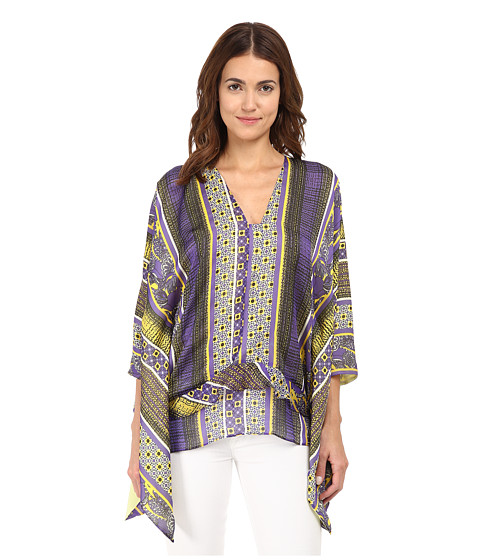 Just Cavalli - V-Neck Tribal Printed Top (Purple Variant) Women