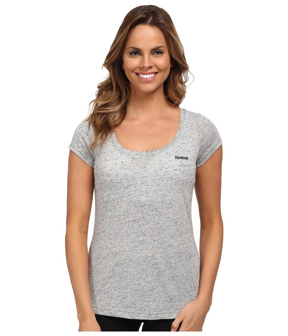 Reebok - Elements Tee (Medium Grey Heather) Women's T Shirt