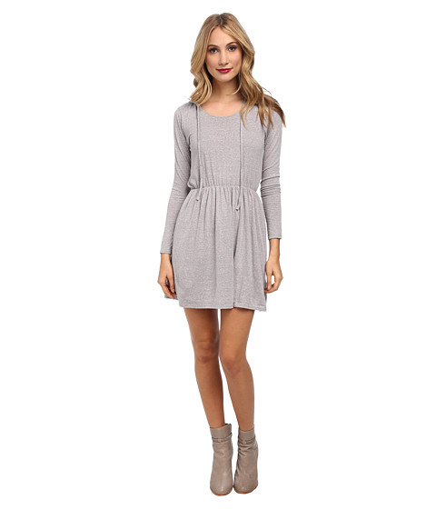 Culture Phit - Monica Waist Tie Dress (Grey) Women's Dress