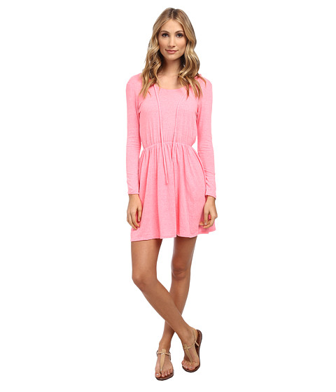 Culture Phit - Monica Waist Tie Dress (Neon Pink) Women's Dress