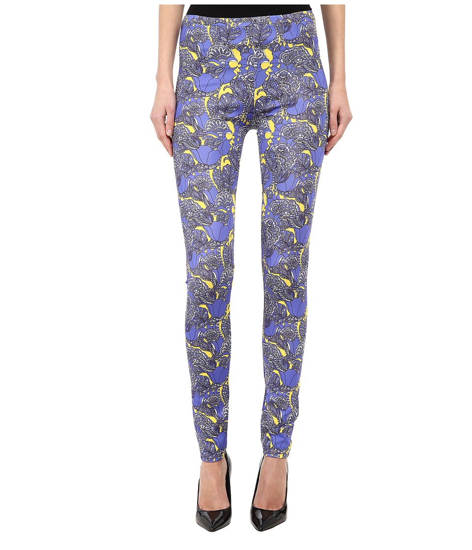 Just Cavalli - Allover Printed Pant (Purple Variant) Women's Casual Pants