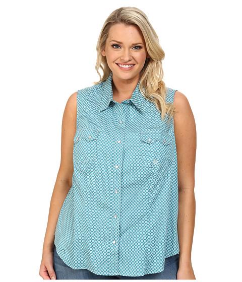 Roper - Plus Size 9574 Diamond Print (Blue) Women