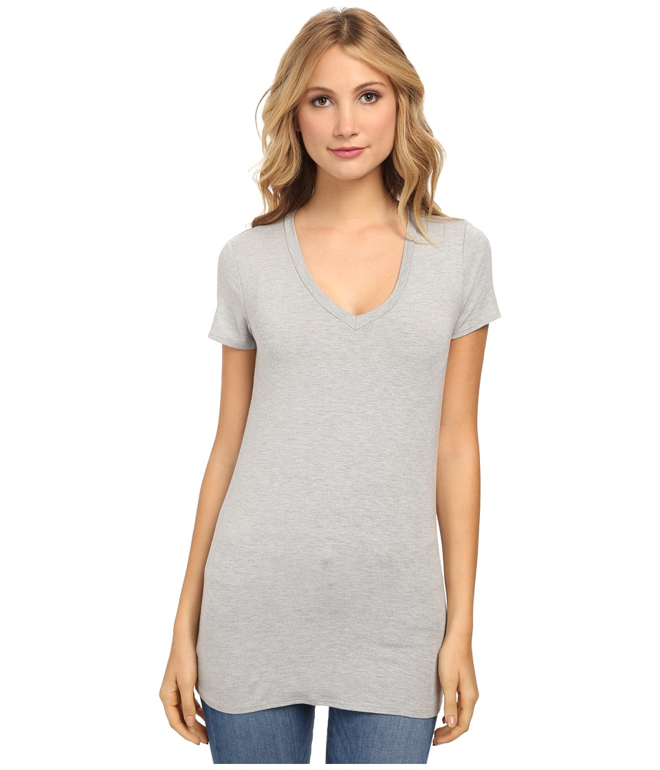 Culture Phit - Mitzi V-Neck Top (Heather Grey) Women