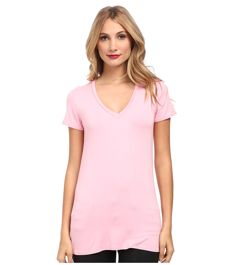 Culture Phit - Mitzi V-Neck Top (Bubblegum Pink) Women