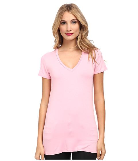 Culture Phit - Mitzi V-Neck Top (Bubblegum Pink) Women's Short Sleeve Pullover